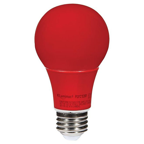 LED Bulb A19 6 W - Non-Dimmable - Red