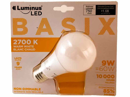 Luminus A19 Basix9W 2700K