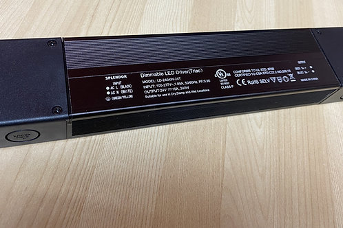 24V 240W Triac Dimmable Waterproof LED Driver with Junc. box 100-277