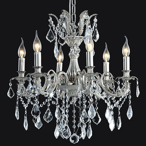 6 Light Crystal Chandelier( E12) Candelabra 40W