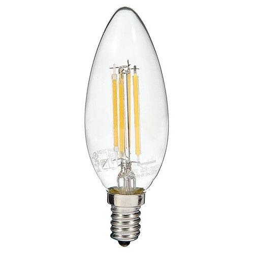 Filament LED bulb - 4W/B11-E12 - Warm White