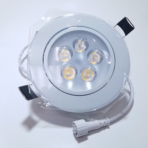 "6W 4"" Warm White 3000K ECT LED Panel Light Round White"