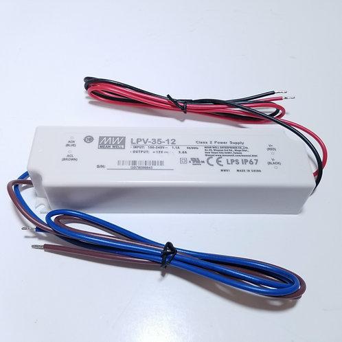 12V 35W Class 2 Power Supply