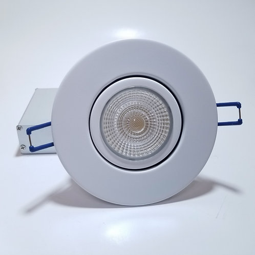 "9W 4"" 3 color option Gimbal LED Panel Light Round White"