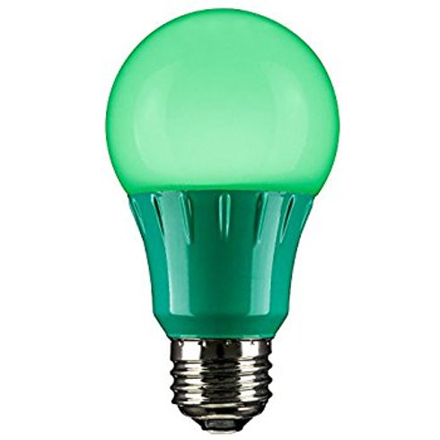 Luminus LED 6W A19 Green Bulb Non-Dimmable