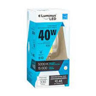 Luminus 40W Equivalent Daylight (5000K) B11 Dimmable Candelabra LED, E12 Base