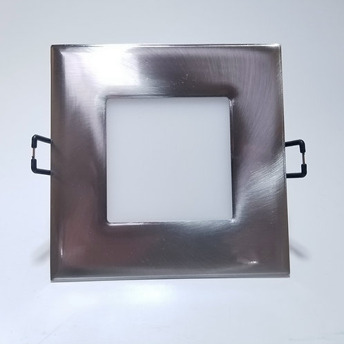 "LED Panel Light 4"" Square Nickel 10W"