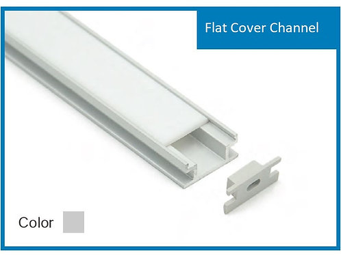 With Strip Light Flat Cover Channel Aluminum Profile White Color per foot