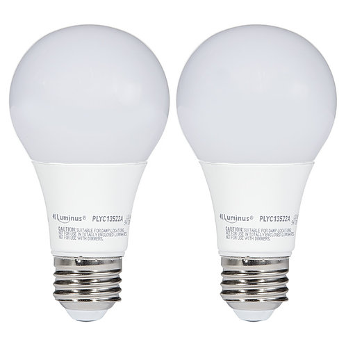 Luminus A19 2 in 1 Pack Dimmable