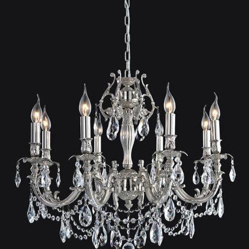 8 Light Crystal Chandelier (E12) candelabra 40W