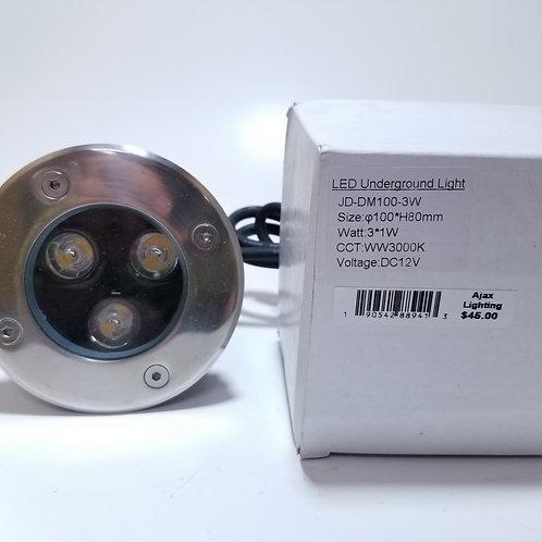 LED Underground Light 3*1W Warm White 3000K 12V