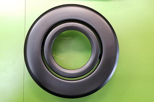 4 Inch Par16/Gu10  Gloss Black Shower Trim