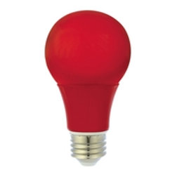 Luminus LED 6W A19 Red Bulb Non-Dimmable
