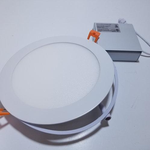 "18W 7"" WarmWhite 3000K ECT LED Panel Light Round White"