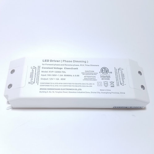 12V 60W Constant Voltage Phase/Triac dimmable driver