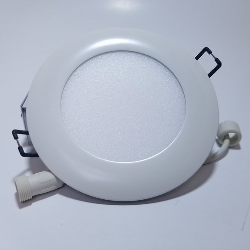 "10W Cool White 5000K 4"" Everbright LED Panel Light Round White"