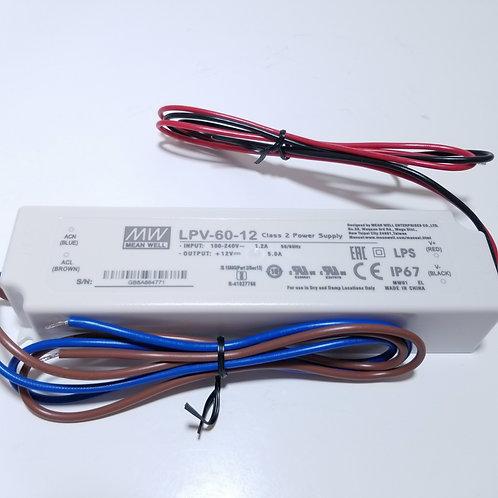 12V 60W Class 2 Power Supply