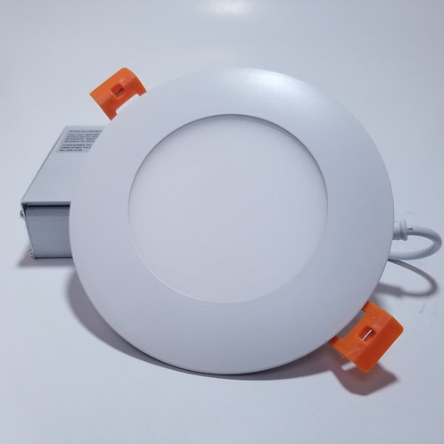 "12W 4"" Warm White 3000K ECT LED Panel Light Round White"