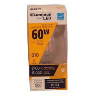 Luminus B11 E12 Base 60W Equivalent LED Chandelier Light Bulbs - FLSNT Dimmable