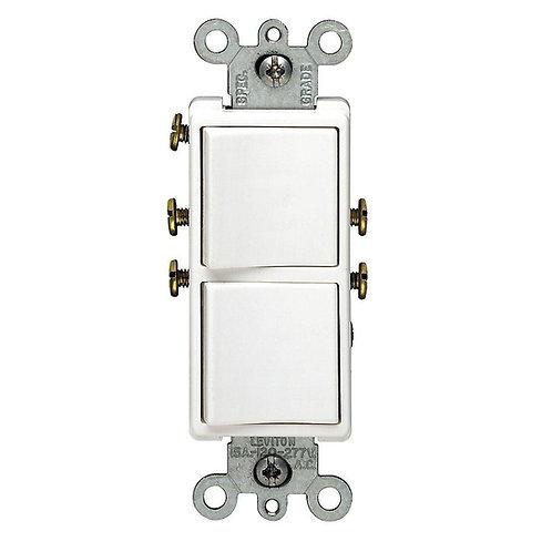 Leviton Decora Combination Switch White