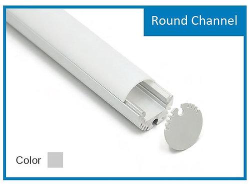 8 Ft Round Channel Aluminum Profile White Color