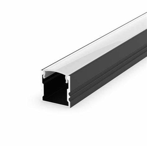 2.9M(9FT 6IN) Deep U 14.4 Black Aluminum Profile