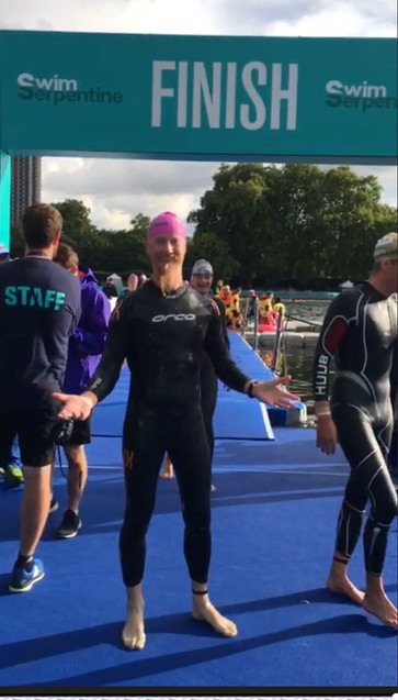 2017 Swim Serptine Finishing Line Happy