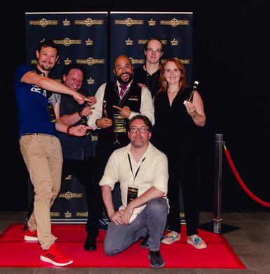 Das Team der Clownette mit Festival Gründer Jan Werner (vorne)