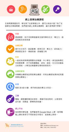【網上治療課】Google Hangouts Meet 網上音樂治療課 現已接受預約