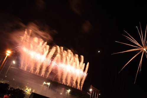 Fireworks and the Moon