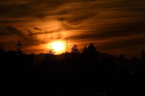 Broken Sutro Tower Sunset