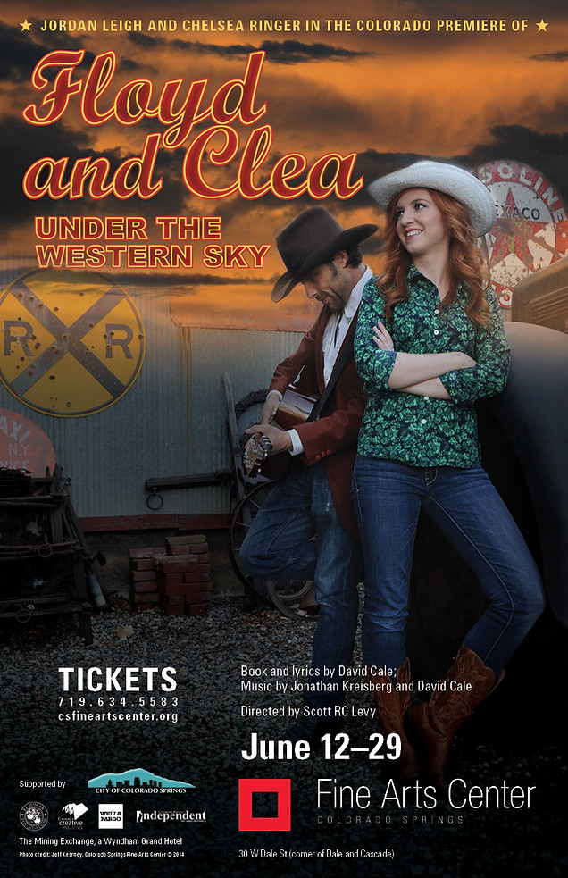 "Production Poster for ""FLOYD AND CLEA UNDER THE WESTERN SKY"""