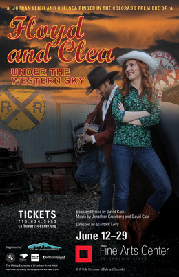 """Production Poster for """"FLOYD AND CLEA UNDER THE WESTERN SKY"""""""