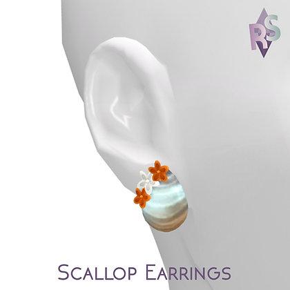 1K Twitter Gift; Scallop Earrings