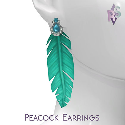 Twitter Gift; Peacock Earrings