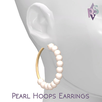 Simblreen 2018 Day 2; Pearl Hoops Earrings