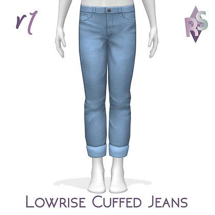 Lowrise Cuffed Jeans