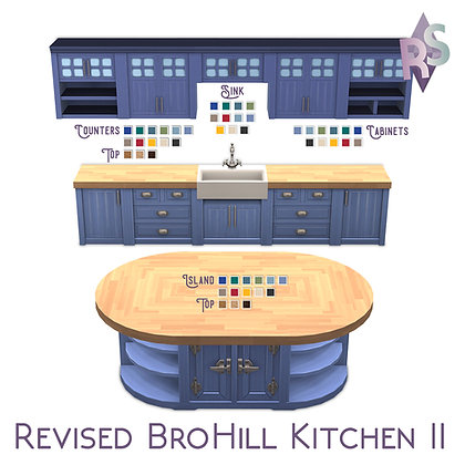 Revised BroHill Kitchen Recolors