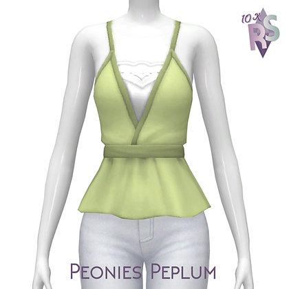10K followers Gift; Peonies Peplum