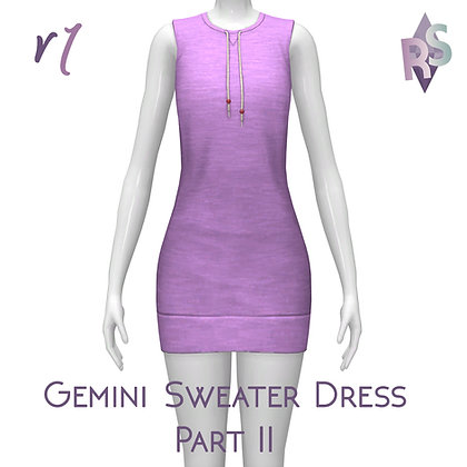 Gemini Sweater Dress Part II