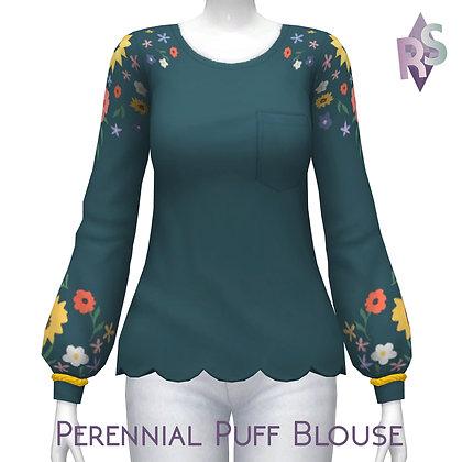 Perennial Puff Blouse