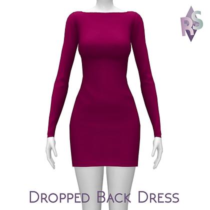 Dropped Back Gorgeous Jersey Dress