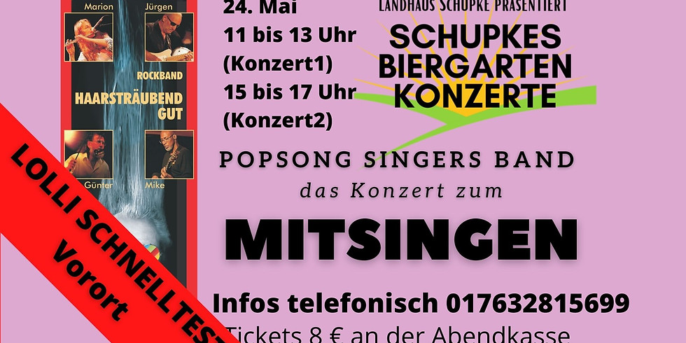 POPSONG SINGERS BAND - Konzert zum Mitsingen_