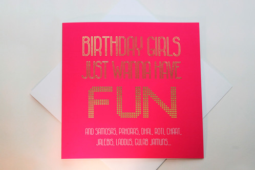 Birthday Girls Greeting Card Paisley Plush Cards – Indian Birthday Cards