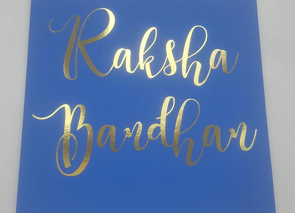 Rakhi Card by Paisley Plush - Raksha Bandhan Cards