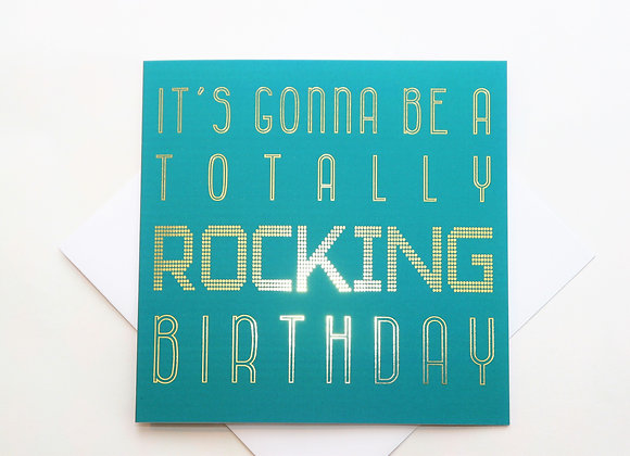 Rocking Birthday Paisley Plush Greeting Card Full