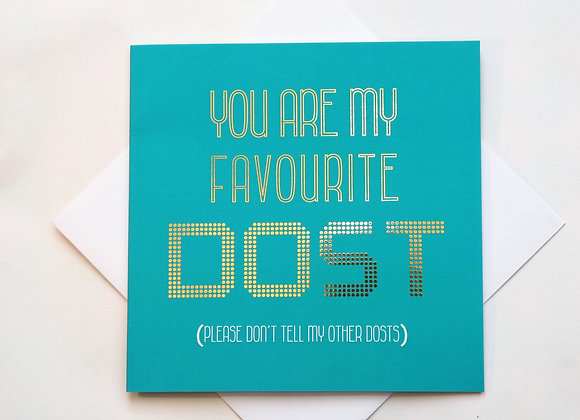 Favourite Dost Paisley Plush Greeting Card Full