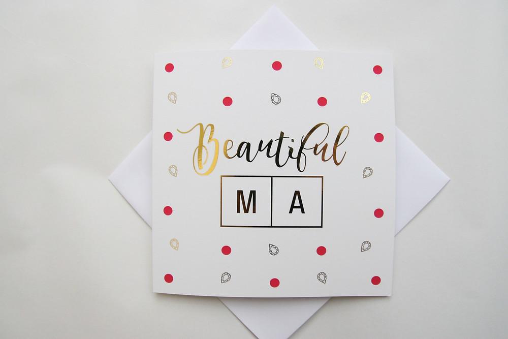 Paisley Plush Greeting Cards - Beautiful Ma