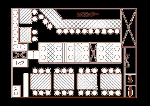 OLYMPIA店内座席表