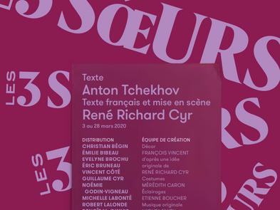 Les 3 soeurs | Théâtre du Nouveau Monde | 3 au 28 mars 2020